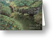 Mango Pastels Greeting Cards - The Pond Greeting Card by Jim Barber Hove