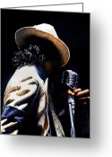 Michael Jackson Greeting Cards - The pop King Greeting Card by Emerico Toth