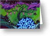 Keough Greeting Cards - The Pork Tree Greeting Card by Dan Keough