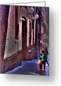 Washington Post Greeting Cards - The Post Alley Gum Wall Greeting Card by David Patterson