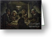 Van Painting Greeting Cards - The Potato Eaters Greeting Card by Extrospection Art