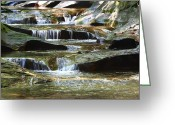 Indiana Rivers Greeting Cards - The Potholes Greeting Card by Virginia Folkman