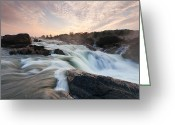 Great Falls Greeting Cards - The Potomac River at Great Falls Greeting Card by Mark VanDyke