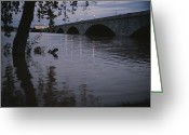 Arlington Memorial Bridge Greeting Cards - The Potomac Rivers Greeting Card by Stephen St. John
