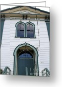 Potter School House Greeting Cards - The Potter School House . Bodega Bay . Town of Bodega . California . 7D12480 Greeting Card by Wingsdomain Art and Photography