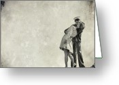 Emotion Greeting Cards - The Power of a Kiss Greeting Card by Evelina Kremsdorf