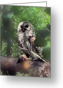 Owl Digital Art Greeting Cards - The Prey is Nabbed Greeting Card by Garry Staranchuk