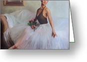 Tulle Greeting Cards - The Prima Ballerina Greeting Card by Anna Bain