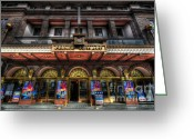 Doors Framed Prints Greeting Cards - The Prince Edward Theatre Greeting Card by Yhun Suarez