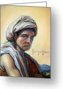 Turban Greeting Cards - The Prophet Greeting Card by Patrick Anthony Pierson