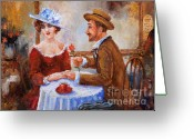 Red Dress Greeting Cards - The Proposal Greeting Card by Igor Postash