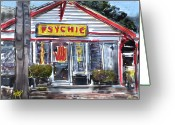 Psychic Greeting Cards - The Psychic Greeting Card by Russell Pierce