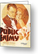 Motion Picture Greeting Cards - The Public Enemy Greeting Card by Nomad Art And  Design