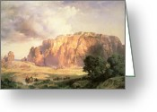 Thomas Moran Greeting Cards - The Pueblo of Acoma in New Mexico Greeting Card by Thomas Moran