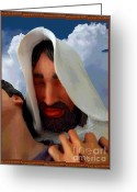 Sacrificial Greeting Cards - The Purpose - Luke 19 Ten Greeting Card by Glenn McCarthy Art and Photography