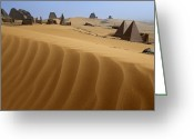 Graves And Tombs Greeting Cards - The Pyramids Of Meroe Greeting Card by Kenneth Garrett
