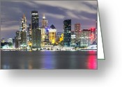 Sydney Harbour. Circular Quay Greeting Cards - The Quay Greeting Card by Mark Lucey