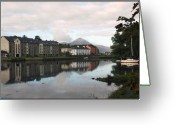 Misty Prints Prints Greeting Cards - The Quay Greeting Card by Paul  Mealey