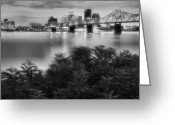 Indiana Photography Photo Greeting Cards - The Quiet City Greeting Card by Steven Ainsworth