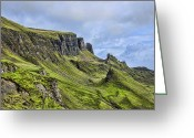 Escarpment Greeting Cards - The Quiraing 2 Greeting Card by Chris Thaxter