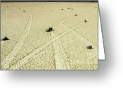 Mountains Of Sand Greeting Cards - The Racetrack 1 Greeting Card by Bob Christopher
