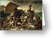 Theodore Greeting Cards - The Raft of the Medusa Greeting Card by Theodore Gericault