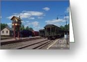 Baraboo Greeting Cards - The Rail Yard Greeting Card by Charles Robinson