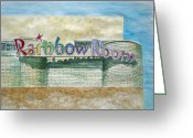  Parks Drawings Greeting Cards - The Rainbow Room Greeting Card by Patricia Arroyo