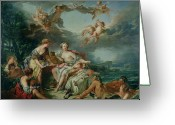 Rape Greeting Cards - The Rape of Europa Greeting Card by Francois Boucher