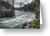 Reno Gregory Greeting Cards - The Rapids Greeting Card by Reno Gregory