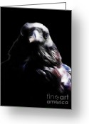 Gargoyle Greeting Cards - The Raven In My Dreams Greeting Card by Wingsdomain Art and Photography