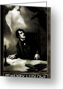 Vintage Movie Poster Greeting Cards - The Raven The Love Story Of Edgar Allen Poe Greeting Card by Marcie Adams Eastmans Studio Photography