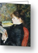 Wearing Greeting Cards - The Reader Greeting Card by Pierre Auguste Renoir