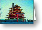 Berks County Greeting Cards - The Reading Pagoda Greeting Card by Bill Cannon
