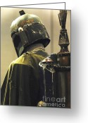 Jet Greeting Cards - The Real Boba Fett Greeting Card by Micah May