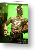 George Lucas Greeting Cards - The Real C3P-O Greeting Card by Micah May