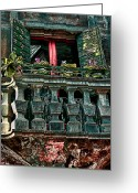 Places In Venice.venecia.venezia.venice Greeting Cards - The Rear Window Greeting Card by Tom Prendergast