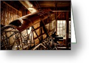 Airplane Greeting Cards - The Red Barn of the Boeing Company II Greeting Card by David Patterson