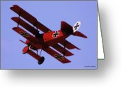 Balloon Fest Greeting Cards - The Red Baron II Greeting Card by DigiArt Diaries by Vicky Browning