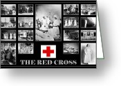 Nurses Greeting Cards - The Red Cross Greeting Card by Andrew Fare