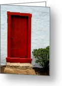 ; Maui Greeting Cards - The Red Door Greeting Card by Karon Melillo DeVega