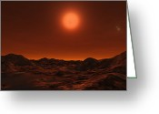 Red Dwarfs Greeting Cards - The Red Dwarf Proxima Centauri Greeting Card by Andrew Taylor