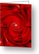 Meditative Greeting Cards - The Red Sea Greeting Card by Pepita Selles