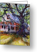 Savannah Artist Greeting Cards - The Red Store Greeting Card by Gertrude Palmer