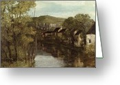 Courbet Greeting Cards - The Reflection of Ornans Greeting Card by Gustave Courbet