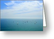 Lipton Greeting Cards - The Regatta Greeting Card by Jonathan Mojica