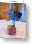 Runner Sculpture Greeting Cards - The Relay Runner Greeting Card by David Patterson