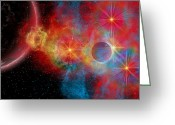 Twinkle Greeting Cards - The Remains Of A Supernova Give Birth Greeting Card by Mark Stevenson