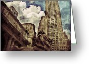 Sky Greeting Cards - The resting Lion - NYC Greeting Card by Joel Lopez