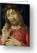 Resurrected Greeting Cards - The Resurrected Christ Greeting Card by Sandro Botticelli